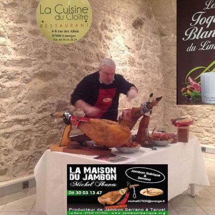 Lundi 7 mars 2016 à Limoges Cathédrale....... Repas et réunion des grands chef du Limousin organiser par Guy Queroix de La Cuisine du Cloître avec la participation de Michel Ibanes de La Maison Du Jambon