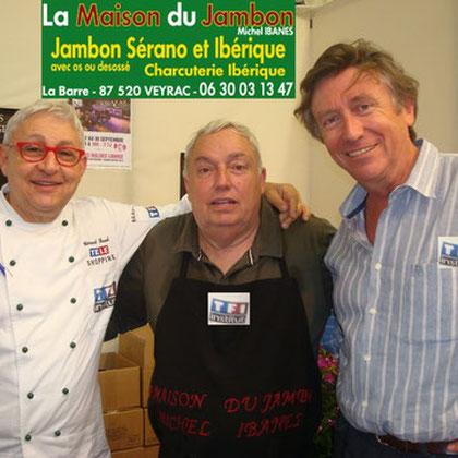 Gerard Baud et Jacques Legros au salon de la Gastronomie d'Arcachon