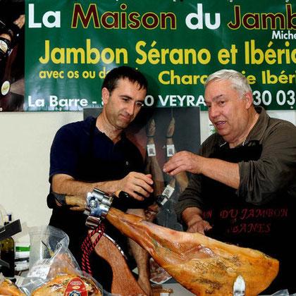 Manuel Angas Eleveur de Porc Ibérique Los Pedroches avec Michel Ibanes