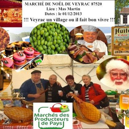 Veyrac 87520 Marché de Noël 2013