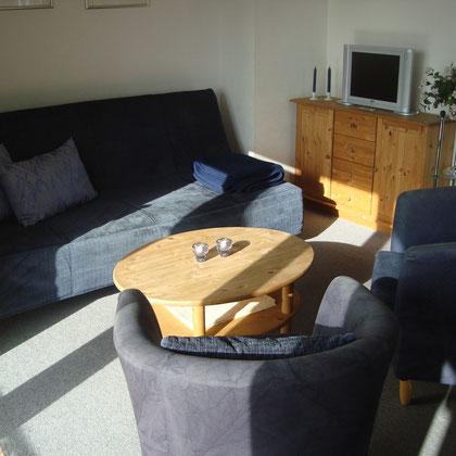 Monteurwohnung Zempin Wohnzimmer
