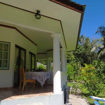 bungalow 1: terrace
