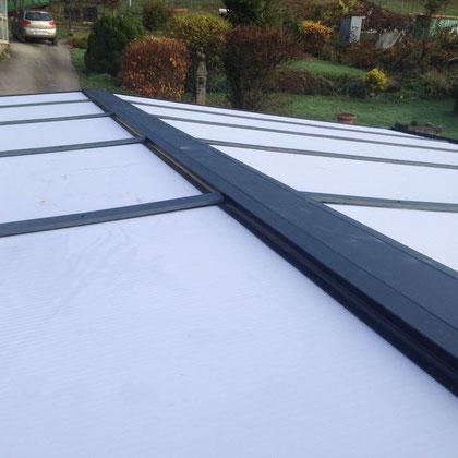 Avec un design contemporain, le carport aluminium est équipé de plaques Polycarbonate opalin structure en X pour laisser passer la lumière et réduire la chaleur tout en assurant une protection anti-UV