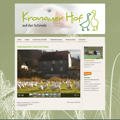 homepage Kronauer Hof