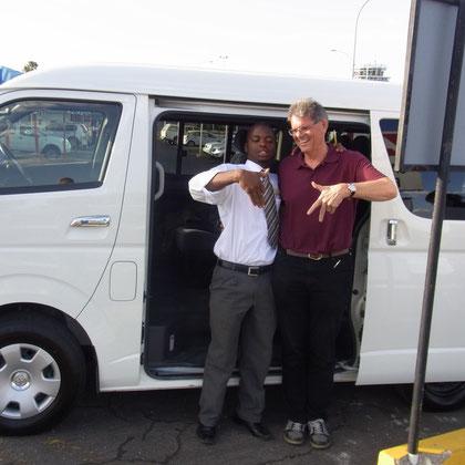 Übernahme unseres Mietautos in Windhoek