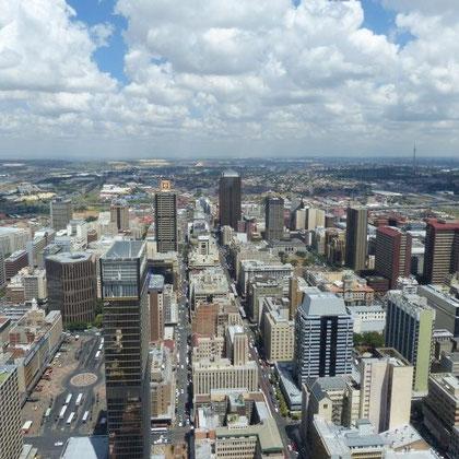 Blick auf Johannesburg vom 50 Stock