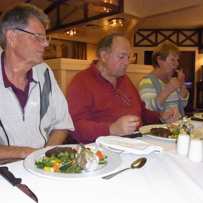 Abendessen im Alten Bahnhof in Swakopmund