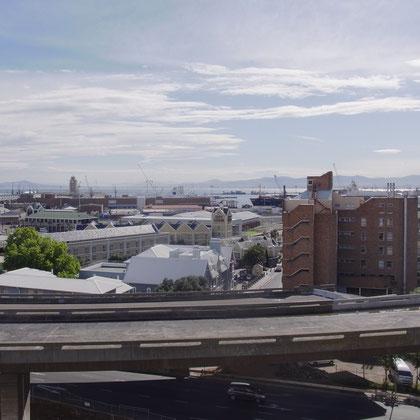 Blick aus dem Apartment auf den Hafen