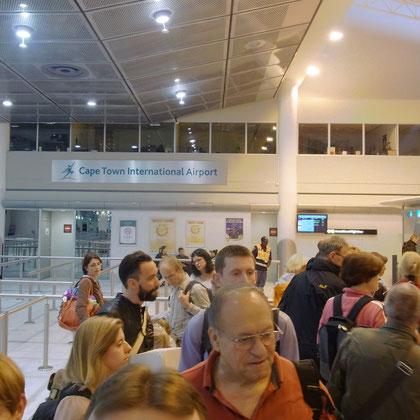 Ankunft in Kappstadt - Passkontrolle