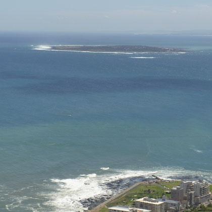 Blick auf Robben Island - Gefängnisinsel von Nelson Mandela