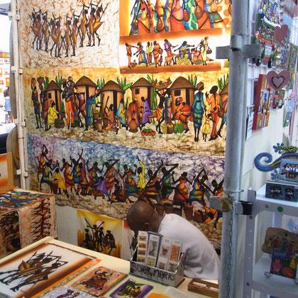 afrikanischer Handwerkermarkt Waterfront