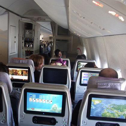 Bildschirm pro Sitz