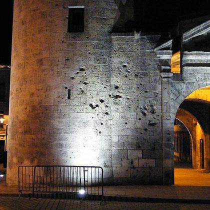 Kriegsschäden am Porte Chaussee
