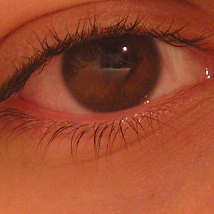 Fotografía obscura, no se aprecia el iris