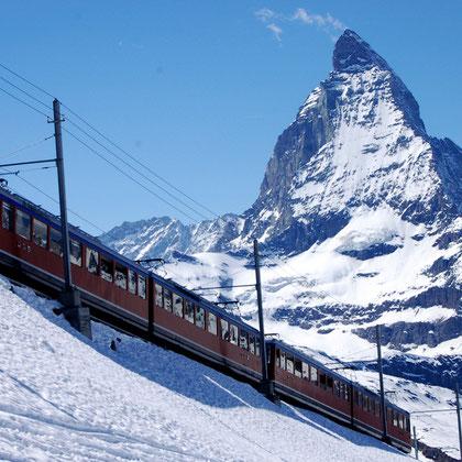 Skifahren im Wallis