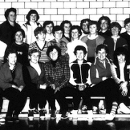 Gymnastikgruppe in der 1982