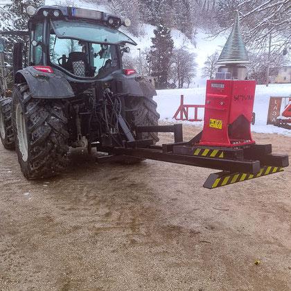 Kegelspalter Traktor Konsole