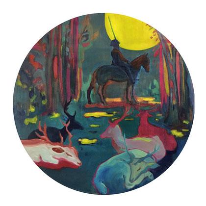 veglia - 2018 - oil on canvas, 120 cm