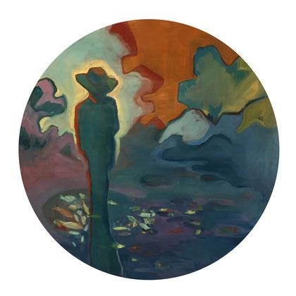 fisherman - 2018 - oil on canvas, 120 cm