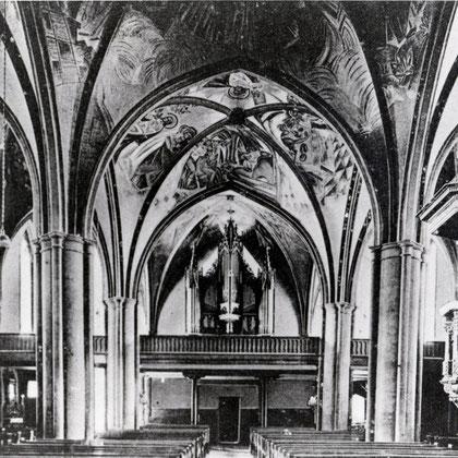 Die ehemalige Orgelempore im Westen der St. Vincenz Kirche