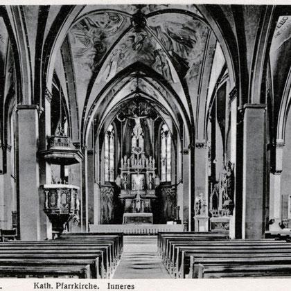 Der Innenraum nach der Umgestaltung von 1924