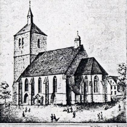 St. Vincenz Kirche mit dem kleinen Chor vor der Erweiterung von 1867