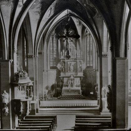Ausstattung der St. Vincenz Kirche in den 20er Jahren