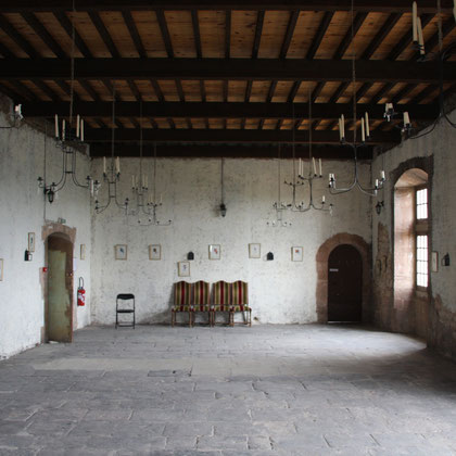 Bild: Saal im Schloss von Barroux