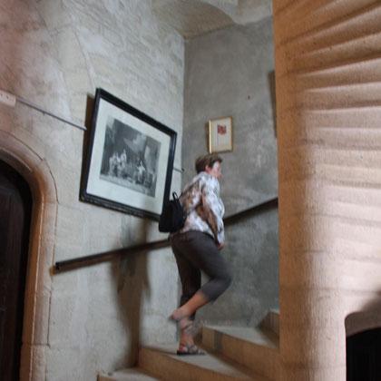 Bild: Wendeltreppe im Schloss von Barroux