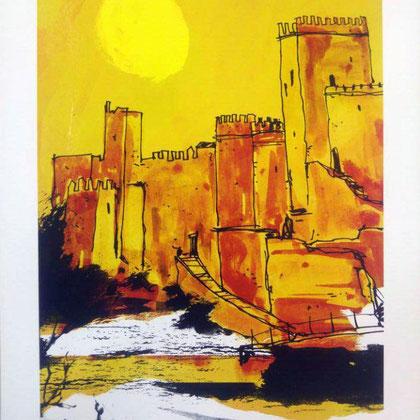 Sol  Alcazaba .Dibujo digital, 21 x 29,3 cm.