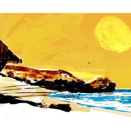 Sol  Puerta Purchena 1. Dibujo digital, 21 x 29,3 cm.