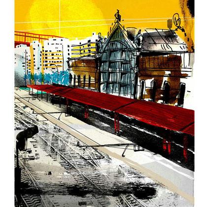 Sol  Estación. Dibujo digital, 21 x 29,3 cm.