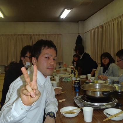 奥野先輩は名古屋からかけつけてくださいました。