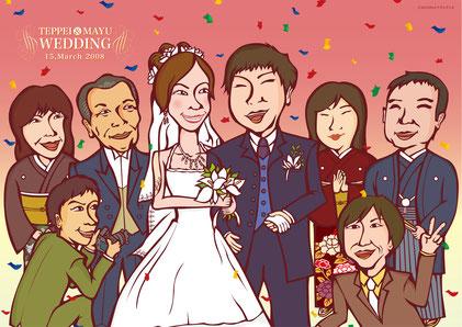 結婚式似顔絵