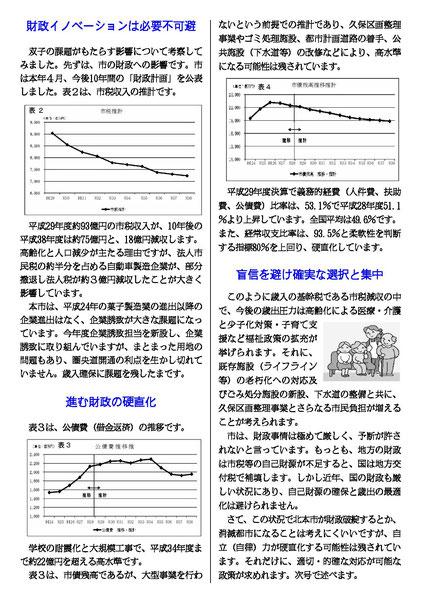 工藤日出夫駅前レポート第1号(2018年10月)