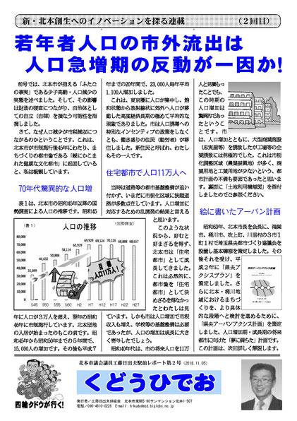 工藤日出夫駅前レポート第2号(2018年11月)