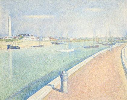 《グラヴリーヌ海峡、プチ・フォート・フィリップ》1890年