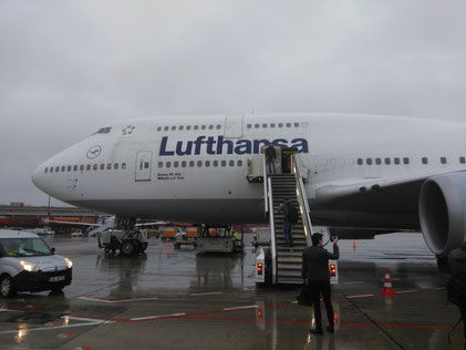 A massive Lufthansa 747-400 in Berlin Tegel