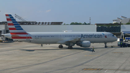 An Airbus A321-200 of American Airlines