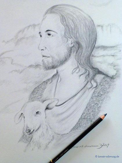 Jesus mit dem Lamm, 2019