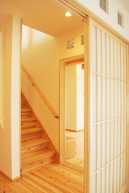 和の階段ホール