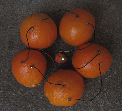 Orangenbatterie, Zitronenbatterie