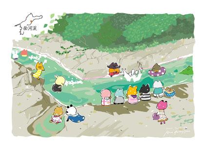 愛媛 面河渓 面河 水遊び 遊び場