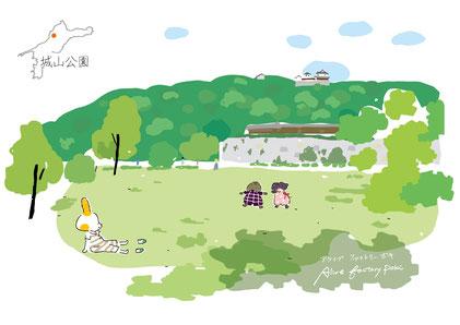 愛媛の公園 愛媛 城山公園 イラスト
