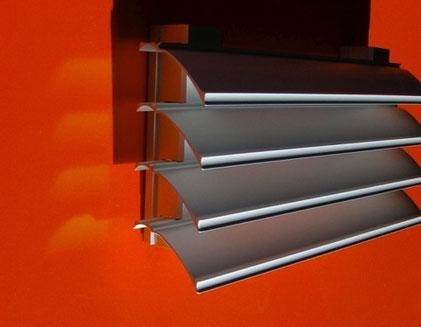 Fassadengitter mit 80% Luftdurchlass