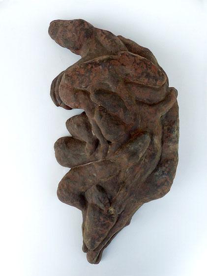 Cokoosie, 2014 Steinzeug, Engobe, 43x23x8 cm