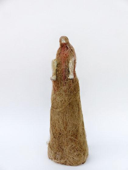 Prophet, 2010 Styrodur, Flachs, Acryl, 31x10x8 cm