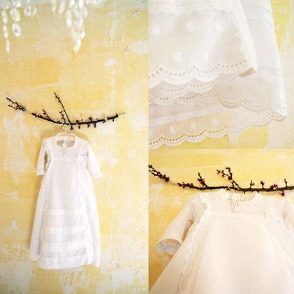 robe de baptême traditionnelle dentelles création baptême