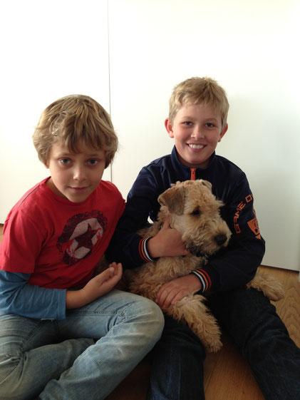 Ludvig mit Julius und Magnus