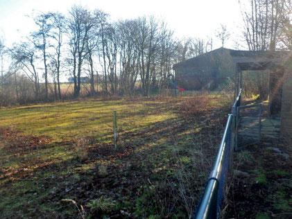 ehemalige Tennisanlage Anfang März 2019 / © Boule in Schleswig-Holstein